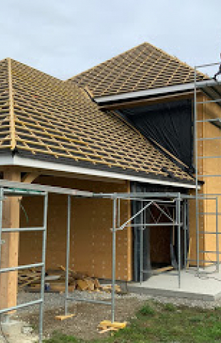 Réalisation d'une extension de maison en bois près de Pau